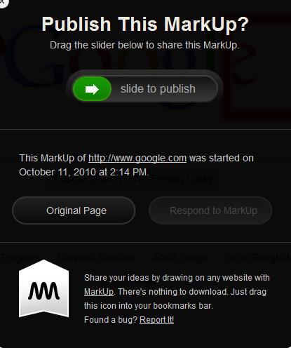 web page markup