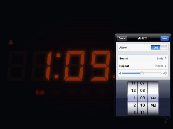6 Best Free iPhone and iPad Alarm Clock Apps nightstandlite1