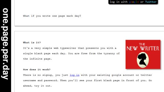 write a page a day