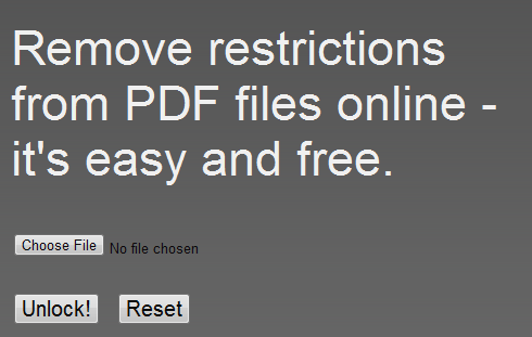 pdf   PDFUnlock!: Unlock Password Locked PDF Files Online