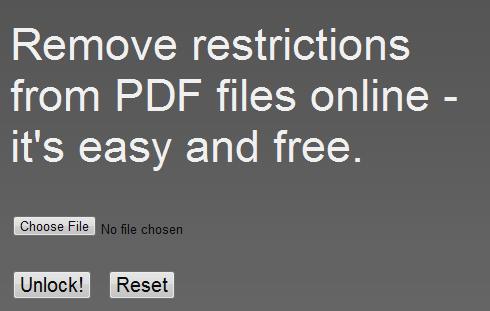pdf   PDFUnlock!: Unlock Password Locked PDF Files Online