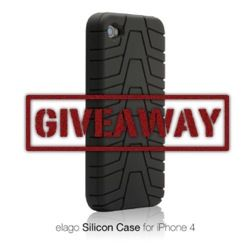 Elago Tire Tread Silicon Case for iPhone 4 Review and Giveaway silicongiveaway