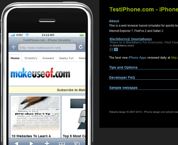 how site looks on iphone