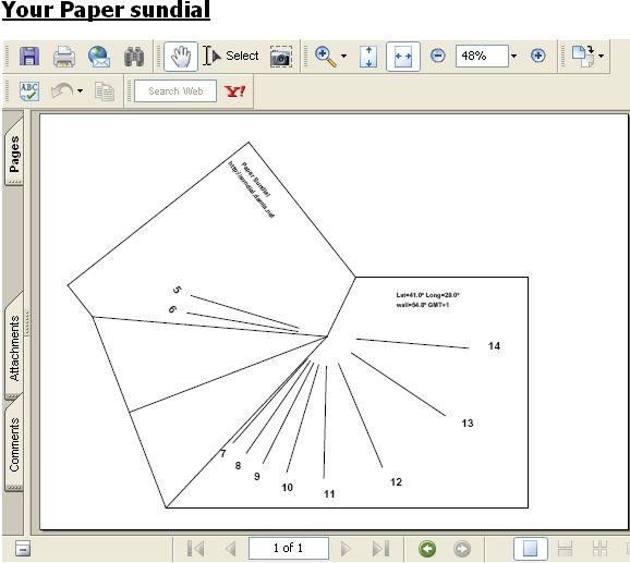 printable sundial