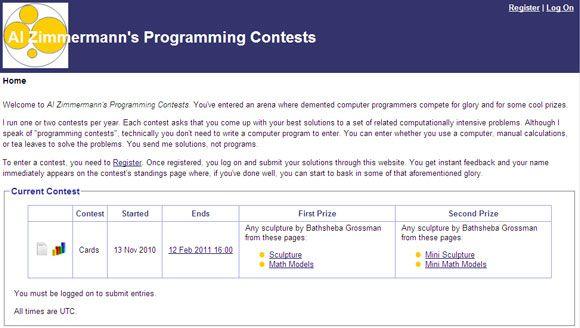 Programming contest prizes