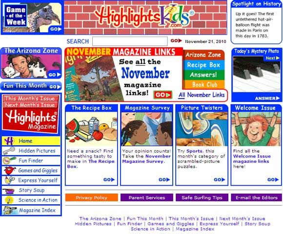 on-line magazines for kids