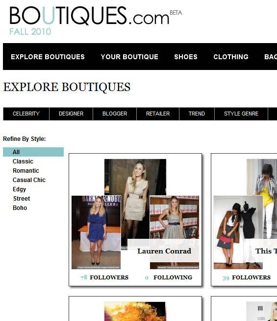 fashion shopping websites