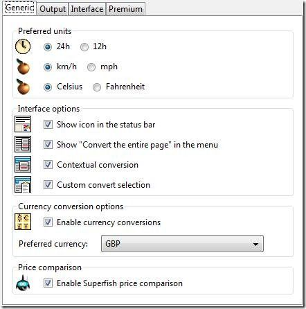 currency converter firefox