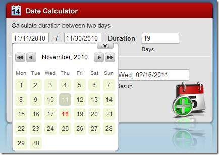online date calculator