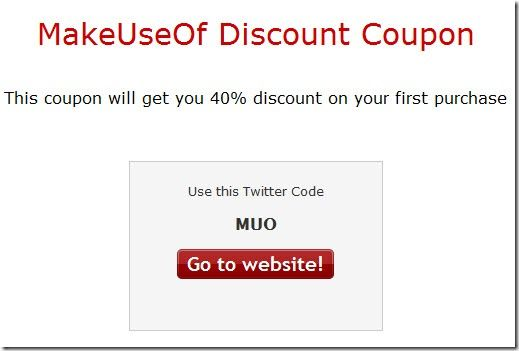 create discount coupons