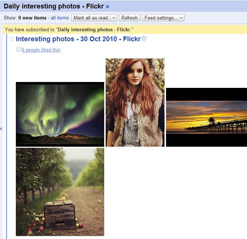 Flickr RSS