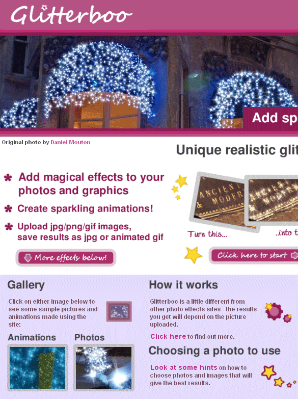 glitterboo   GlitterBoo: Add Decorative Effects To Your Photos