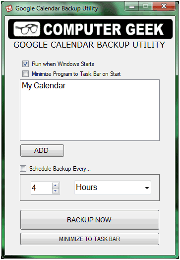 backup google calendar data