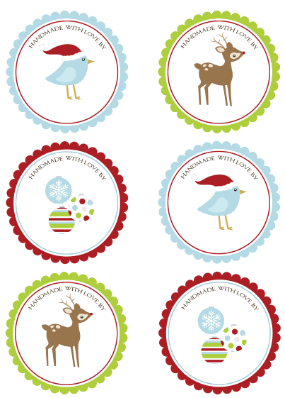 print christmas labels