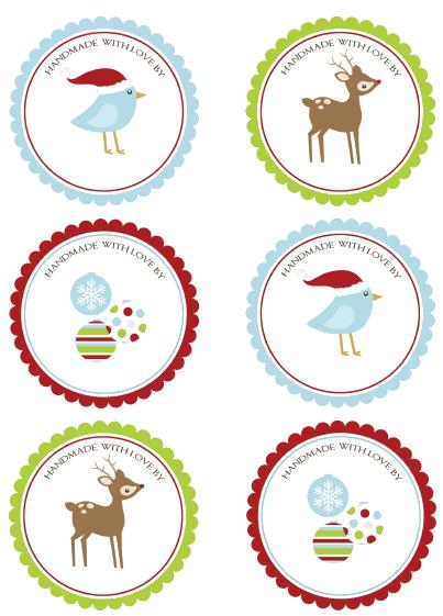 print christmas labels