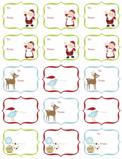 custom christmas labels