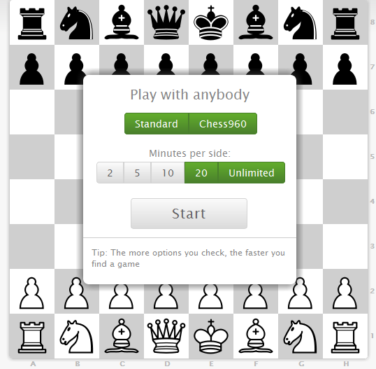 online chess game against computer