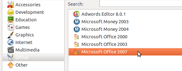 install office 2007 on linux