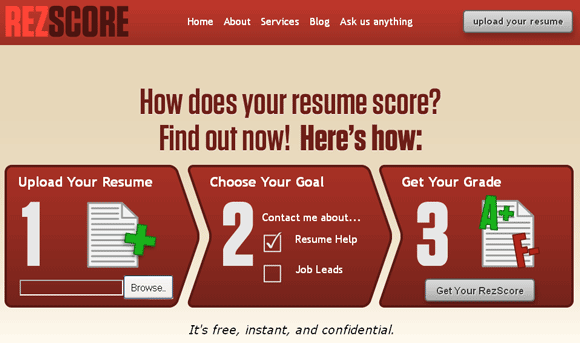 rezscore free resume grader online