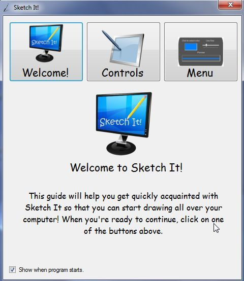 draw on your screen