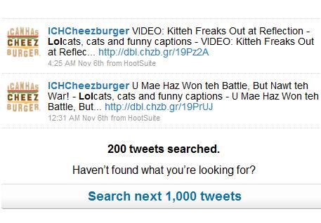 search twitter stream
