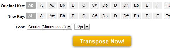 transpose mp3 files