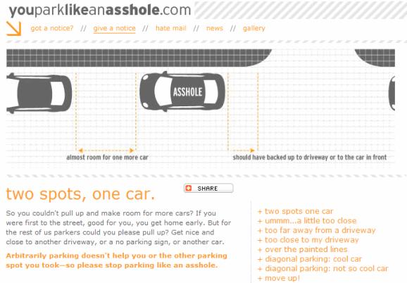 car parking etiquette
