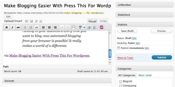 fast post wordpress