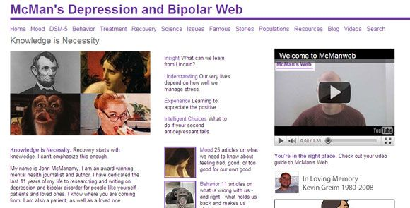 bipolar disorder websites