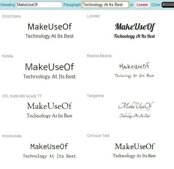 compare web fonts