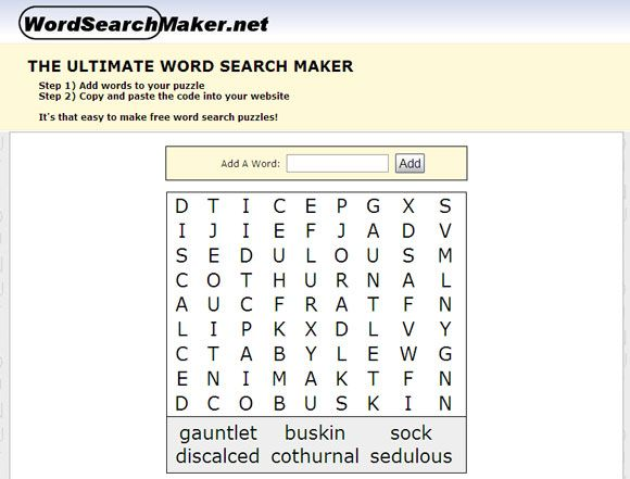 word search maker