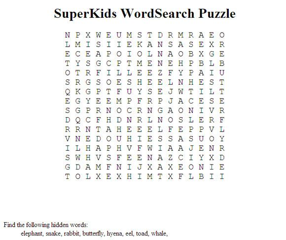 10 websites to make and print word search puzzles. Black Bedroom Furniture Sets. Home Design Ideas