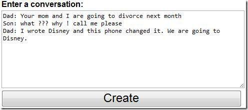 fake iphone text conversation