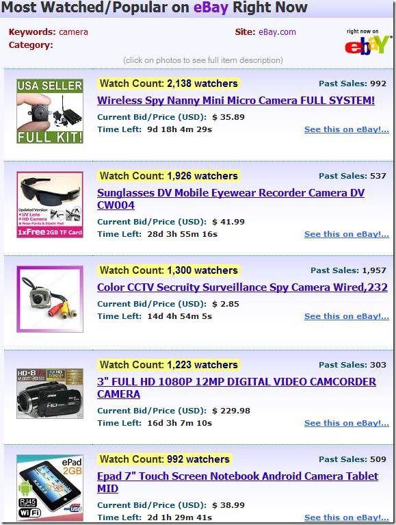 ebay number of watchers tool