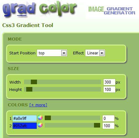 generate css3 gradient