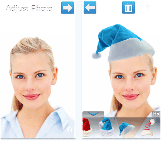 add a christmas hat to a photo