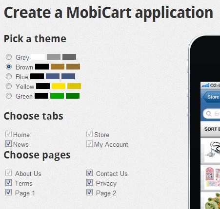 create mobile store