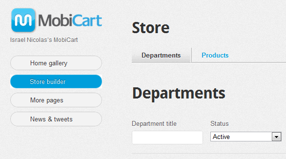 mobile store application