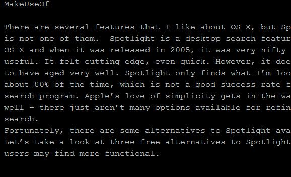 makeuseof1   Write Space: Distraction Free Browser Based Text Editor [Chrome]