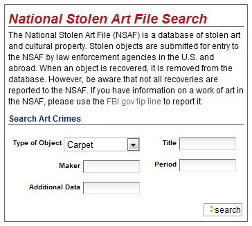 database of stolen art