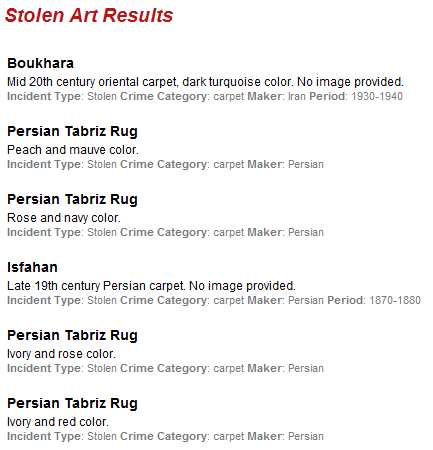 stolen artwork database