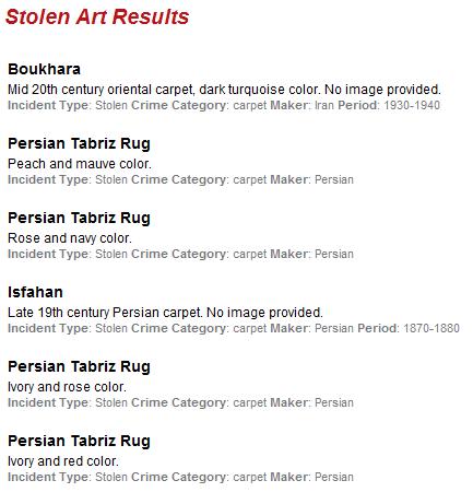 stolen artwork database