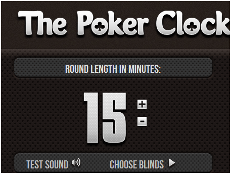 web poker clock