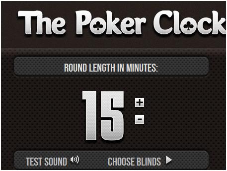 web poker clock