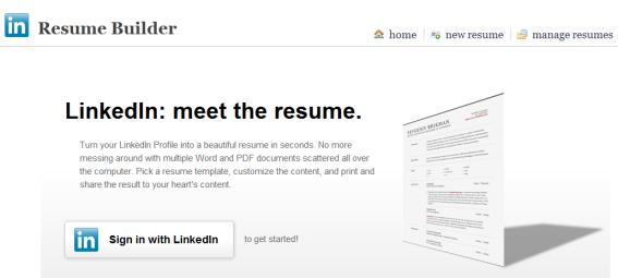 create resume from linkedin the resume builder