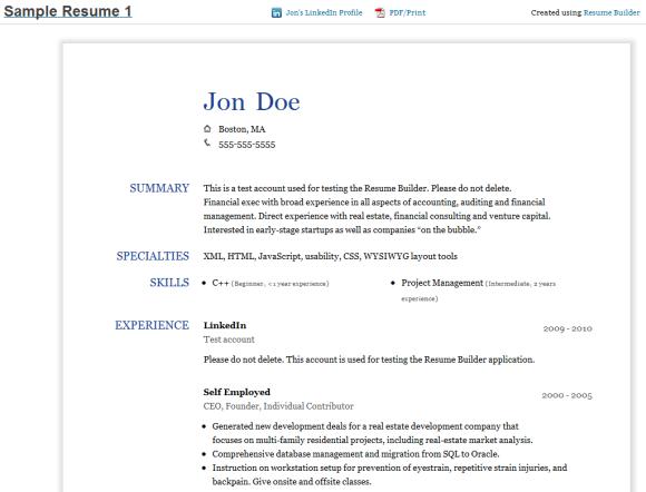 The Resume Builder � Google