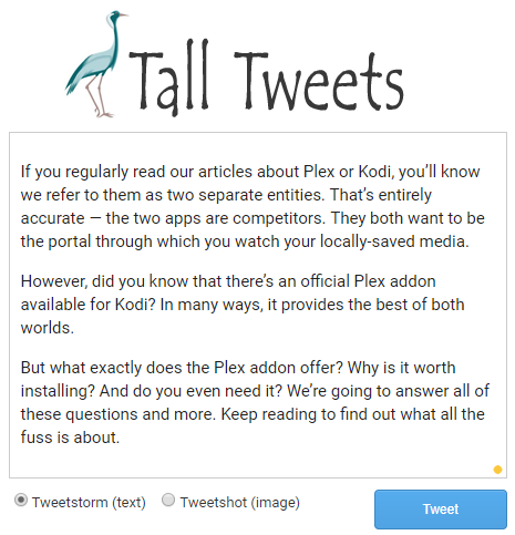 6 Tools That Allow You To Write Longer Twitter Tweets tall tweets