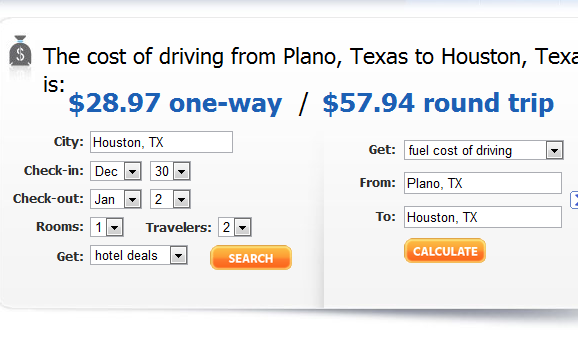 travelmath calculate trip cost time