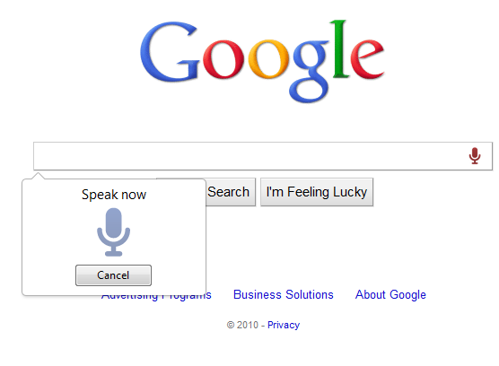 voice search in google