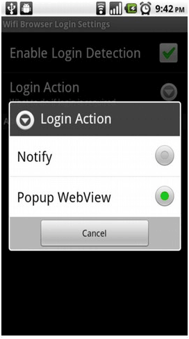 log into wifi network